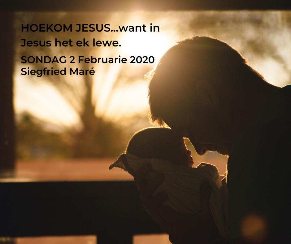 2 Februarie 2020 – HOEKOM JESUS…want in Jesus het ek lewe